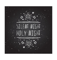Silent night holy night - typographic element vector image