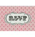 RSVP vector image vector image