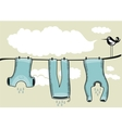 Drying Clothes Background vector image vector image