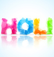 artistic holi text vector image