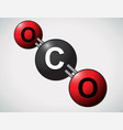 carbon dioxide atoms vector image
