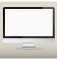 Empty computer screen vector image