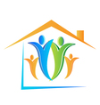 Family and house logo vector image