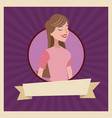 girl daughter style ribbon vector image