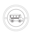 Isolated school bus vector image