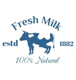 Milk cow logo badge template some nature vector image