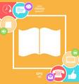 open book icon vector image