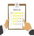 rate us vector image
