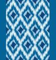 seamless pattern tribal art ikat vector image