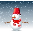 Snowman Greeting Card vector image