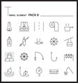 Travel Element Line Icon Set 8Camping vector image