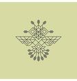 Tribal Owl Symbol Ornate owl symbol Line Art vector image