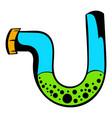 water mixer obstruction icon cartoon vector image