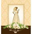 Lady in a wedding dress vector image vector image