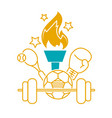 concept of the olympic games vector image