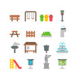flat design park item set vector image
