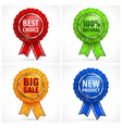 Set of color award labels on vector image vector image