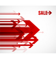 sale arrows vector image vector image