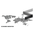 Economic migration vector image