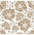 Floral pattern of flowers leaf summer berries vector image