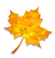 Autumn Yellow Leaf vector image