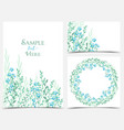 backgrounds with blue flowers vector image