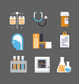medical icon set medicine equipment sign hospital vector image