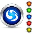 Rotation button vector image