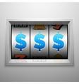 Slot machine or one armed bandit scoreboard vector image