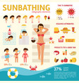 the girl sunbathes on the beach and tanning summer vector image