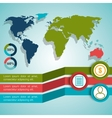 World infographic design vector image