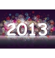 New year two thousand and thirteen vector image