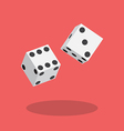 Dice flat icon vector image