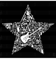 Music star background vector image