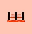 san francisco bridge metal bridge vector image