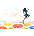 skipping girl vector image vector image