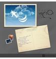 Old Postcard Design Template vector image