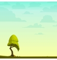 Cartoon nature background with a tree vector image
