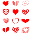 heart set vector image