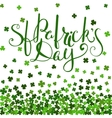 St Patricks day lettering vector image