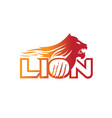 abstract lion logo vector image