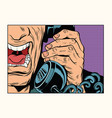 angry man talking on the phone vector image
