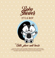 baby shower animal flat vector image