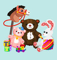 colorful and lovely toys vector image
