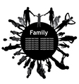 Frame with family silhouettes vector image