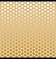 hexagon halftone gold color vector image