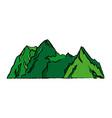mountains peak alpine landscape image vector image