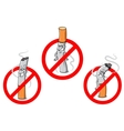 No smoking cartoon sign vector image