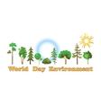 World environment day vector image