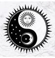 Yin yang symbol with moon and sun vector image